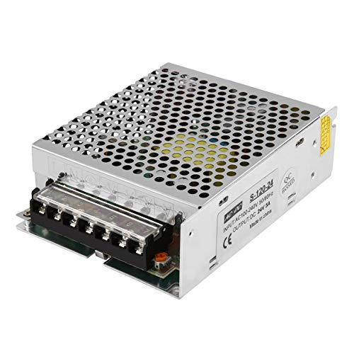 Neue Ankunft DC 24 V 5A 120 Watt AC100-240V Schalter LED Netzteil Treiber Schalttransformator Für Led-Streifen Licht Display-Silber -