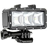 SHOOT Diving Light Lampe Plongée Sous Marine Imperméable Haute Puissance Dimmable LED Lumière pour GoPro Hero 6/5/4/3 +/3 Crosstour Campark --Normal (HI) Economie d'énergie (BAS), Flash (SOS)