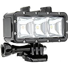 SHOOT Impermeabilizan la Luz Subacuática de la Luz de Destello del Poder Más elevado de Dimmable LED para GoPro Hero 6/5/4/3+/3/2/ SJCAM SJ4000/SJ5000 / Xiaomi Yi