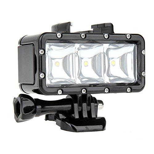 SHOOT Tauchen Unterwasser Licht Dimmbar Unterwasser Licht LED Füllen Nacht Beleuchtung für GoPro Hero 6/5/4/3+/3/2/SJCAM SJ4000/SJ5000/ Xiaomi Yi Kamera mit Eingebautem 1200mAh Akku (Tauchen Licht)