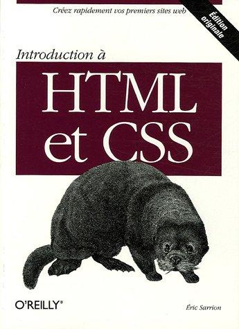 Introduction à HTML et CSS par Eric Sarrion
