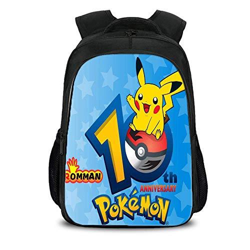 rucksack 3D Pikachu Printed Bookbags Für Jungen E-16inch ()