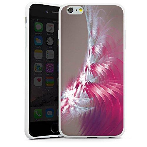 Apple iPhone X Silikon Hülle Case Schutzhülle Muster Licht Spirale Silikon Case weiß