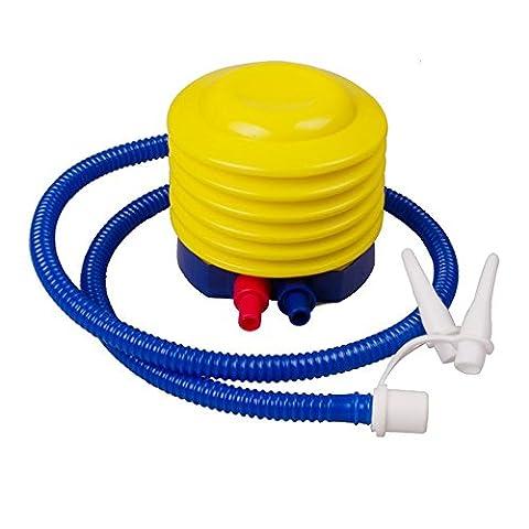 asdomo Kunststoff Air Fuß Pumpe Handpumpe aufblasbar Ballon Pumpe Yoga Gym Gymnastikball Float Spielzeug Schwimmen Ring Pumpe