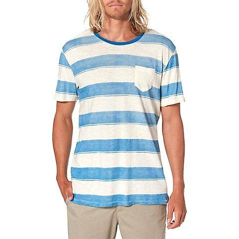 Reef Mens Stripeit Crew Short-Sleeve Shirt Medium Natural