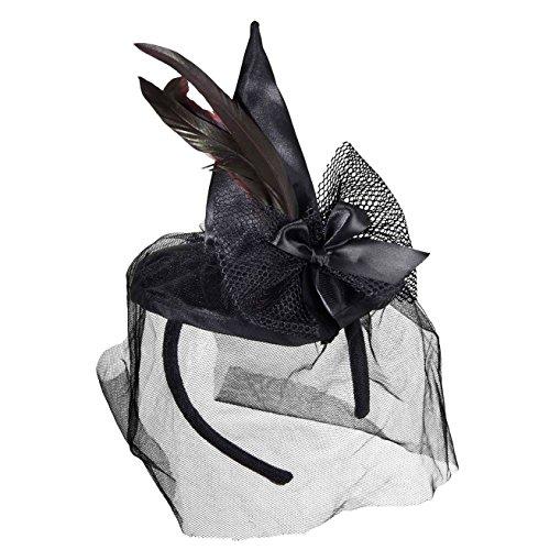 Widmann mini cappello da strega su cerchietto per adulti, taglia unica 9369s