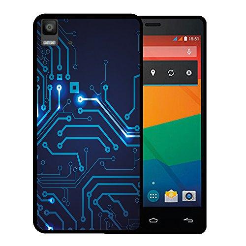 Bq Aquaris E5s - E5 4G Hülle, WoowCase Handyhülle Silikon für [ Bq Aquaris E5s - E5 4G ] Rundgang Handytasche Handy Cover Case Schutzhülle Flexible TPU - Schwarz