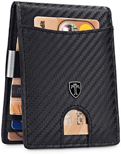 TRAVANDO Portafoglio uomo piccolo con protezione RFID 'SEATTLE' Porta carte di credito con clip per contanti, Portafogli Porta tessere slim tascabile, Portatessere Raccoglitore banconote