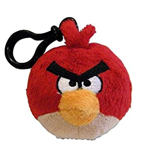 51FAMlKLYjL. SS300  - Red Bird: Angry Bird ~ Mochila de 6,35 cm Mini Plush Serie Clip