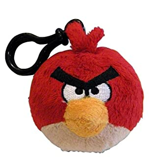 51FAMlKLYjL. SS324  - Red Bird: Angry Bird ~ Mochila de 6,35 cm Mini Plush Serie Clip