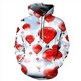 New Fashion Hoodies Männer/Frauen 3d-Sweatshirts Digital Print sexy rote Lippen Luftballons dünne Herbst Hooded Sweats, DM 203, XXXL
