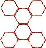 Avento Unisex's 41TK 6-Piece Agility Grid Hexagon, Fluorescent Orange/Anthracite, One Size