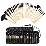 MT005 Set 32Pcs Pennello Cosmetico Trucco Brush Professionale Portabile Beauty Donna Superiore Cosmetic Make up Brushes Tools Kit Fondation Blush Brush [ IT Stock ]+ Bag