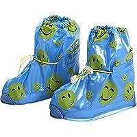 KVbaby Regenüberschuhe Wasserdicht Überschuhe Wiederverwendbar rutschfester Schuhüberzieher,Optimal vor Regen,Schnee und Matsch geschützt für Unisex-Kinder