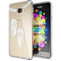 Samsung Galaxy A3 2016 Coque Protection de NICA, Housse Motif Silicone Portable Premium Case Cover Transparente, Ultra-Fine Souple Gel Slim Bumper Etui pour A3-16, Designs:Chain Feathers