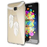 Samsung Galaxy A3 2017 Hülle Handyhülle von NALIA, Slim Silikon Motiv Case Cover Crystal Schutzhülle Dünn Durchsichtig Etui Handy-Tasche Backcover Transparent Phone Bumper, Designs:Chain Feathers