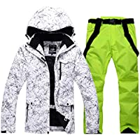 JESSIEKERVIN YY3 Herren & Damen Schneeanzug Winter Ski Jacke und Hose Set