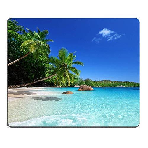Hemore Sol Strand Costa Meer Palmen Mousepad Tropical Paradise Palmeras Spiel Mouse Pad oblongo in Form von Eco Gummi Mauspad