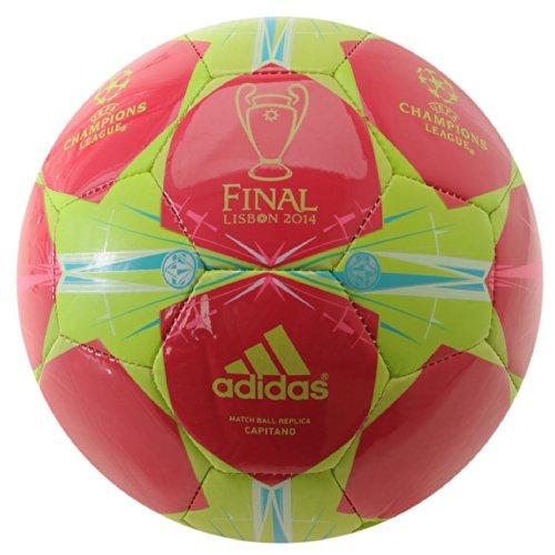 adidas Glider balón de fútbol Liga de Campeones Uefa llavero con forma de balón de fútbol, tamaño 5, diseño de Vivid Violet