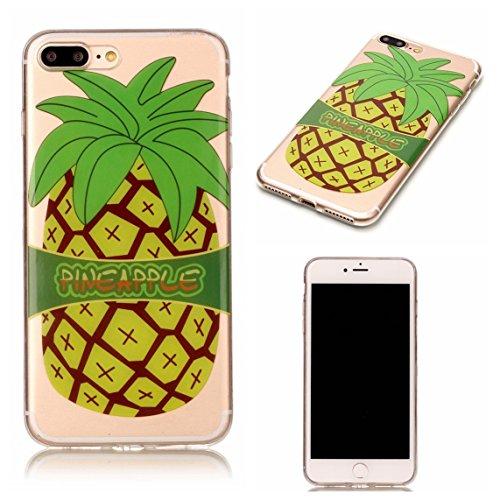 Apple iPhone 7 Plus 5.5 Hülle, Voguecase Schutzhülle / Case / Cover / Hülle / TPU Gel Skin (Weiße hohle 01) + Gratis Universal Eingabestift PINEAPPLE
