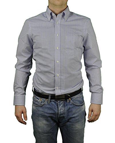 Redmond - Regular Fit - Bügelfreies Herren Langarm Hemd mit Button-Down Kragen (510103), Größe:41/42(L);Farbe:Blau(10)