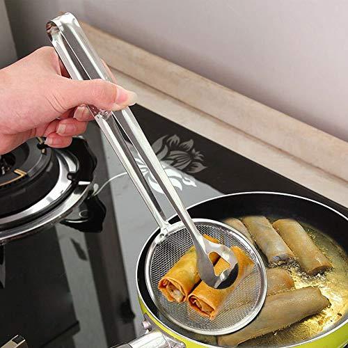 Beiguoxia Sieb Küche Mehrzweckfilter Löffel Zange Gebratene Lebensmittel Sieb Klammer Werkzeug multi - 5 Quart-schalen