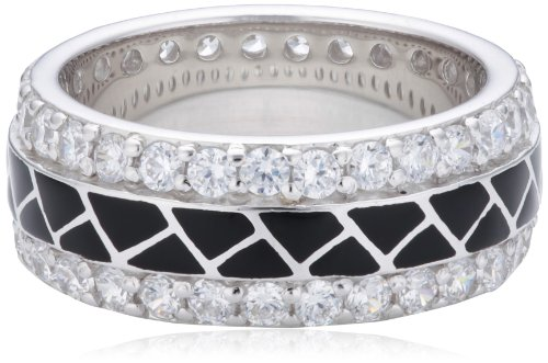 S. Oliver Damen-Ring 925 Silber Zirkonia weiß Gr. 54 (17.2) - 417525