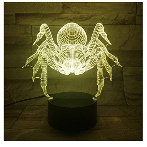 3D Led Nachtlicht Spinne Mit 7 Farben Licht Für Home Decoratetion Lampe Erstaunliche Visualisierung Optische Halloween Decoratetion (Halloween-spinne Großen Einen Machen Sie)