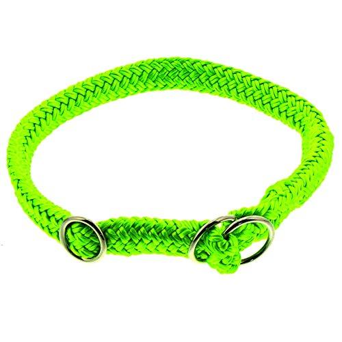 Dinoleine Hunde-Halsband/Stoppwürger, Größenverstellbar, Polyester, Größe: M/ 55 cm, Neongrün, 221104