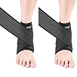 #9: Tdas Adjustable Ankle Support Pad Brace Cap Sleeve Socks Wrap Straps Band Bandage For Pain Relief Ankle Pain For Unisex (2)
