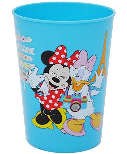 """1 Stück _ 3 in 1 - Trinkbecher / Zahnputzbecher / Malbecher - Becher - """" Disney Minnie Mouse - BLAU """" - 280 ml - Trinkglas aus Kunststoff Plastik - für Kinder - Mädchen - mehrweg - Kindergeschirr - Kinderglas - Kinderbecher Camping Set / Plastikbecher - Kunststoffbecher / Trinklernbecher bunt - Geschirr - Maus / Playhouse - Daisy Mickey - Blumen Herzen - Campingbecher / Campinggeschirr - Plastikgeschirr"""