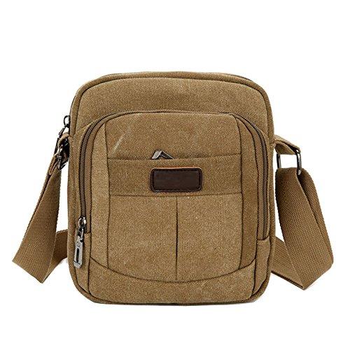 969f04db63855 Beiläufige Crossbody-Umhängetasche Segeltuch Der Männer  Reißverschluss-Reißverschluss-Schulterbeutel Junge Reisetasche Multi  Taschenbeutel