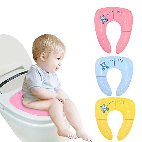 YWXJY Baby faltbare Toilette Töpfchen Sitz Ausbildung deckt Liner, Kinder tragbare wiederverwendbare Reisen Potties, Boys & Grils, rutschfeste Design, Töpfchen Ring für Kleinkind, Kinder, 3 Pack, NEU -