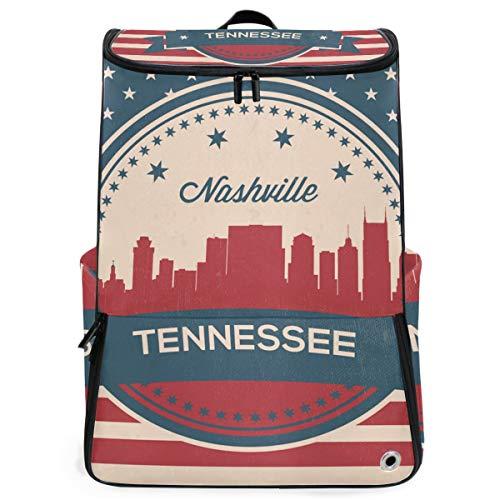 Rucksack Tennessee State Nashville Vintage amerikanische Flagge Rucksack Wandern für Teen Boys Girls Perfect School Travel Daycare
