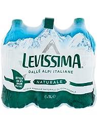 Levissima Acqua Minerale Naturale - Confezione da 6 x 1 Litro - Totale: 6 Litri