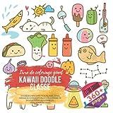 Kawaii Doodle Classe. Livre de coloriage géant: Croquis de chiens super-mignons, mode, espace, mariage, activités sportives actives, aventure, vie ... automne, etc. Extra Grande 360+ pages...
