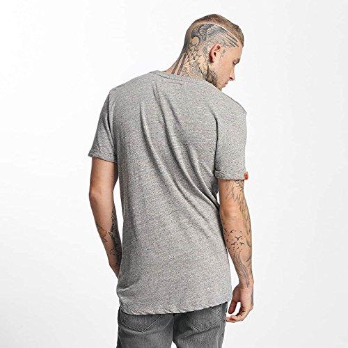 Superdry Uomo Maglieria/T-Shirt Varsity Long Line Grigio