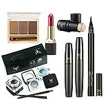 Reixus(TM) 7Pcs Kosmetik Set Puder-Augen-Make-up Augenbrauenstift Mascara Sex-y Lippenstift Rouge Tool Kit f¨¹r den t?glichen Gebrauch