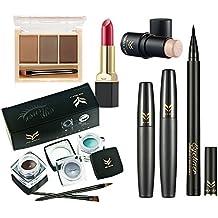 Reixus(TM) Kit de herramientas de colorete del l¨¢piz labial del maquillaje 7pcs cosm¨¦tica Set Polvos Mascara l¨¢piz de cejas sexo-y para el uso diario