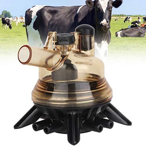 SISHUINIANHUA Kuh-Schaf-Melker-Melkmaschine-Teil-Ersatzmilch-Greifer-Block-Tränken-Schüsseln für den Bauernhof, der Milch sammelt - Deckel Greifer