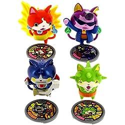 Hasbro - Yo Kai Watch Set di 4 Personaggi: Robonyan, Jibanyan, baddinyan e Thornyan 1388223