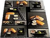 Designer Mikrofaser Brillen Putztuch Brillentücher Speisen Anrichten Teller Sushi schönes Design schick NEU 100DBPZ2948