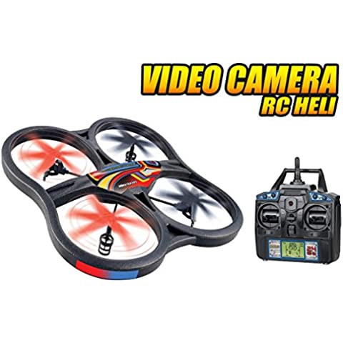 Panther Spy Drone UFO with Video Camera 4.5CH 2.4GHz RC Quadcopter by World Tech Toys