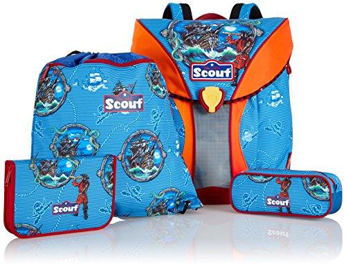 Scout Schulranzen-Set Basic Nano Set 4 tlg Stormy Sea 36 cm Blau 71400765700