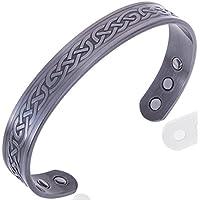 Keltischer Herren KupferArmband, Hartzinn Magnetisch Armreif Mit 6 Starken Magneten (Arthritis Magnetschmuck) preisvergleich bei billige-tabletten.eu