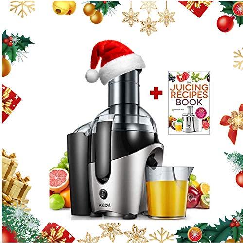 Entsafter, Aicok 2019 Qualitätssteigerung Zentrifugaler Entsafter mit 75mm Große Einfüllöffnung, Einfach zu Verwenden und zu Reinigen, BPA-frei Juice Extractor, Überladungsschutz