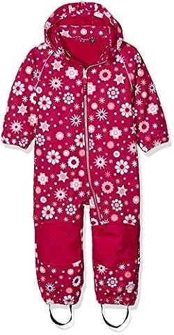 NAME IT Mädchen Schneeanzug Nitalfa M Softsh Suit Aop Flower FO 316, Mehrfarbig (Sangria), 92
