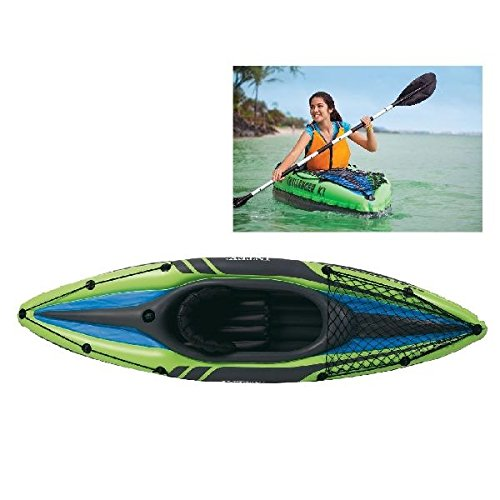 Intex 68305NP - Kayaks Deportivos (Kayak Inflable, 1 Personas(s), 100 kg, PVC, 274 X 76 X 33 cm, Color Negro, Verde