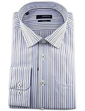 Seidensticker Herren Langarm Hemd Splendesto Regular Fit French Kent Piping mehrfarbig gestreift 189520.12