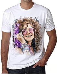 Janis Joplin Color, t shirt homme, t shirt pour homme, cadeau homme